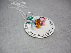 DELENA CIASTKO DESIGNS, hand stamped custom necklace