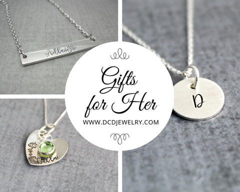 gifts for her personalized necklace