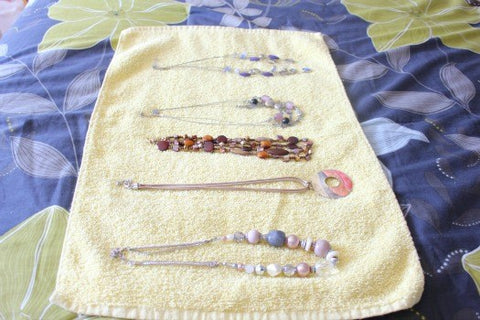 wash cloth jewelry roll