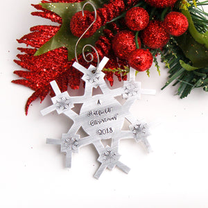 Large snowflake ornament personalized