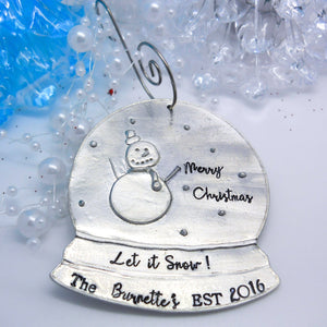 Personalized Snow Globe Christmas Ornament