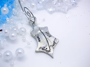 Holly Leaf Personalized Christmas Ornament - Sweet Tea & Jewelry
