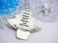 Pewter Personalized Christmas tree Christmas Ornament - Sweet Tea & Jewelry