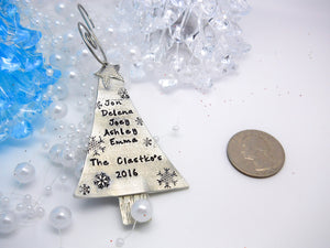 Personalized Christmas Tree Ornament, Personalized Family Ornament 2017 - Sweet Tea & Jewelry
