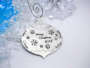 Vintage type ball Christmas ornament, personalized ornament - Sweet Tea & Jewelry