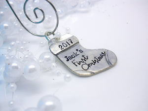 Personalized Christmas Stocking Ornament - Sweet Tea & Jewelry