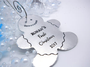 "Gingerbread Man ""Baby's First Christmas"" Ornament 