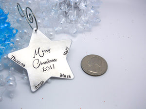 Personalized Star Christmas Ornament, Custom Star Ornamant - Sweet Tea & Jewelry