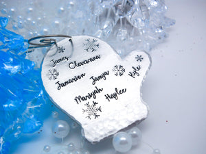 mitten christmas ornament