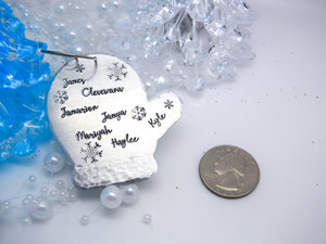 Mitten Christmas Ornament, personalized Christmas ornament, glove ornament - Sweet Tea & Jewelry