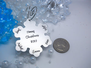 Personalized Snow Flake Christmas Ornament - Sweet Tea & Jewelry