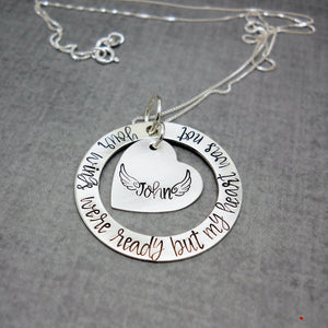 Your Wings Were Ready Sterling Silver Memorial Necklace