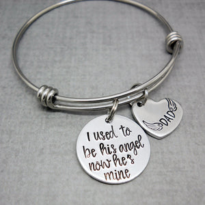 I used to be his angel memorial bracelet - Sweet Tea & Jewelry