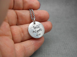 Pumpkin name necklace