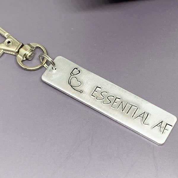 Essential AF key chain, nurse key chain