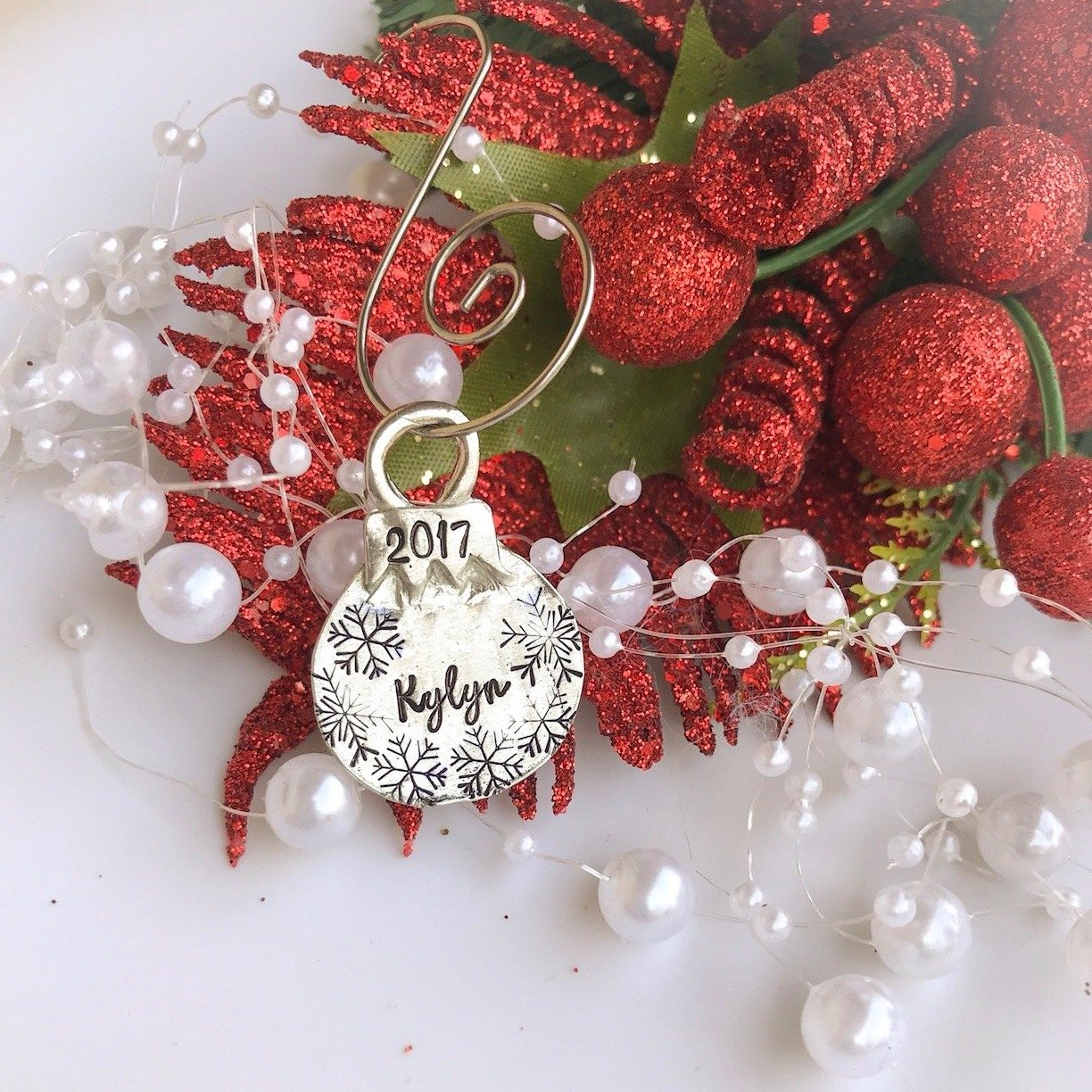Christmas Ball Ornaments.Pewter Small Christmas Ball Ornament Personalized Christmas Ornament Custom Kids Name Ornament