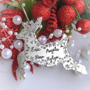 Reindeer Christmas ornament, personalized Christmas ornament