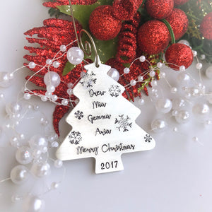 Personalized Christmas Tree Ornament - Sweet Tea & Jewelry
