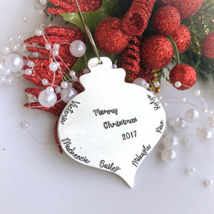 Vintage type ball Christmas Ornament, personalized ornament