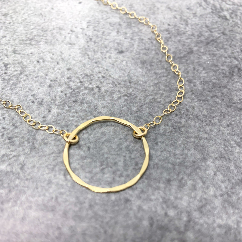 gold karma necklace