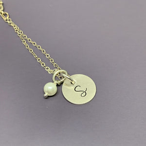 Sterling silver Bridesmaid proposal necklace