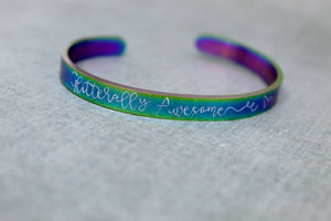 Glitterally awesome cuff bracelet