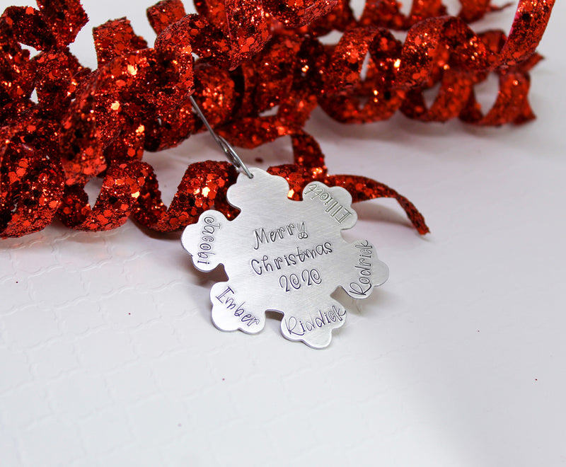 Personalized snowflake Christmas ornament