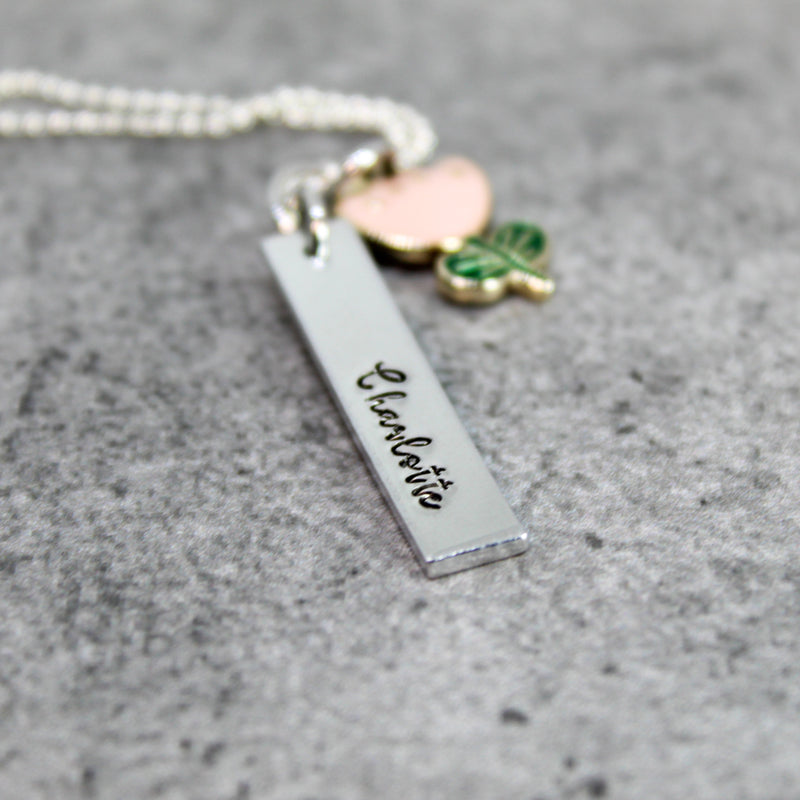 Flower girl bar necklace, Flower girl proposal