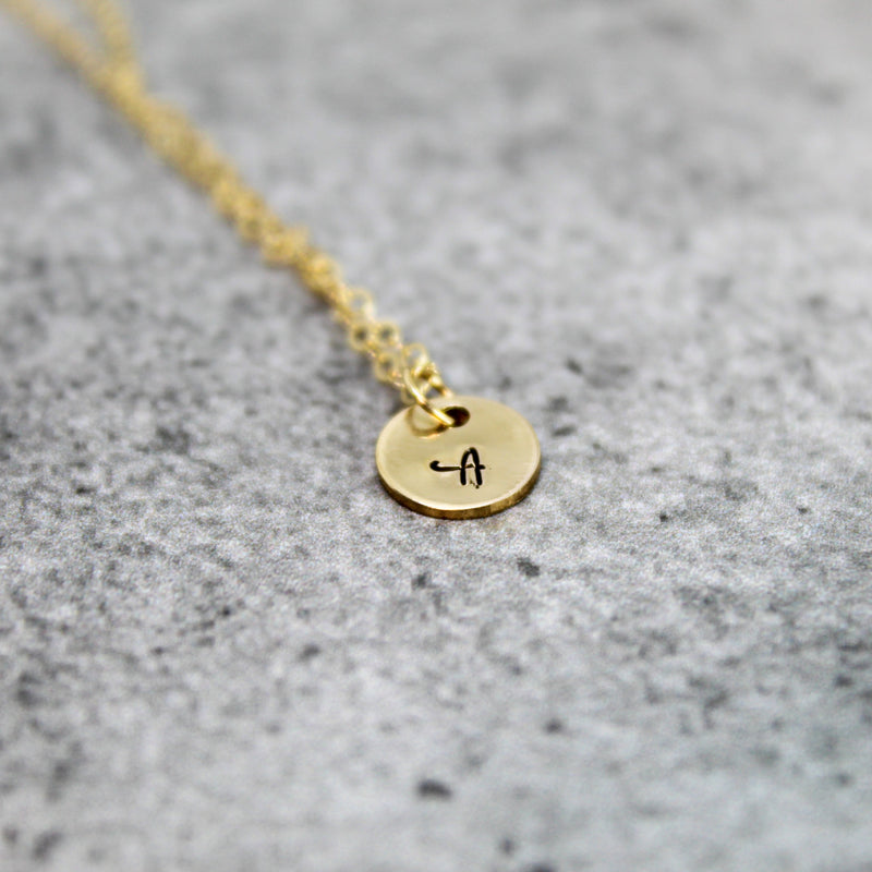 tiny bridesmaid initial necklace | bridesmaid proposal necklace