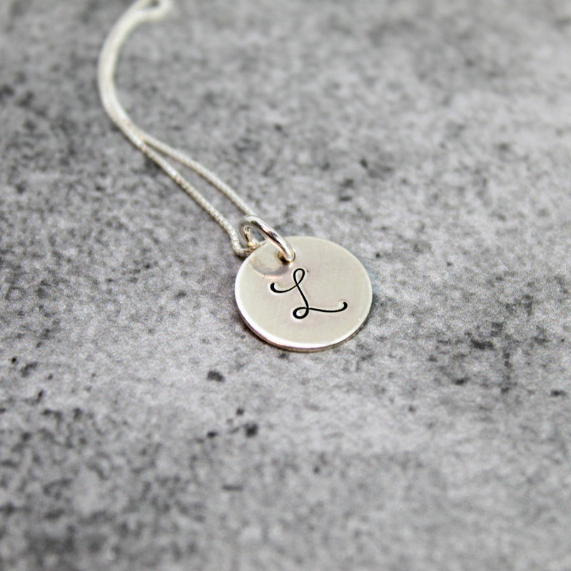 sterling silver initial necklace | bridesmaid gift