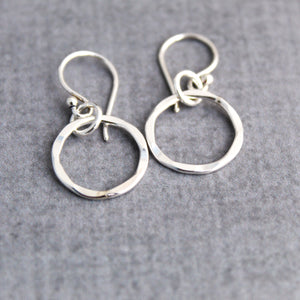 Sterling silver Karma earrings
