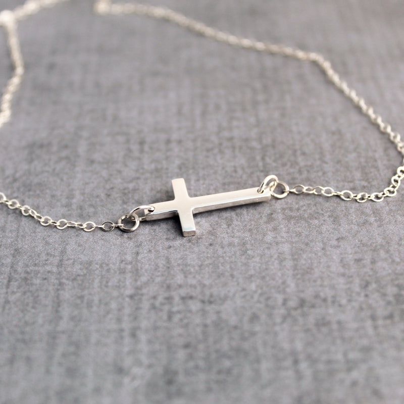 Cross necklace and earrings gift set