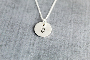 Personalized Initial necklace, sterling silver