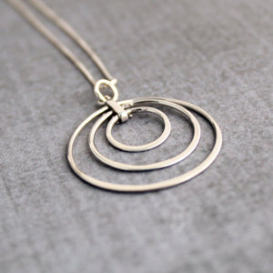 Sterling silver 3 generations necklace