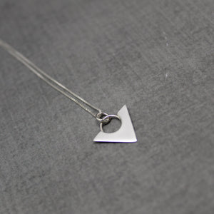 Sterling silver triangle point necklace - Sweet Tea & Jewelry