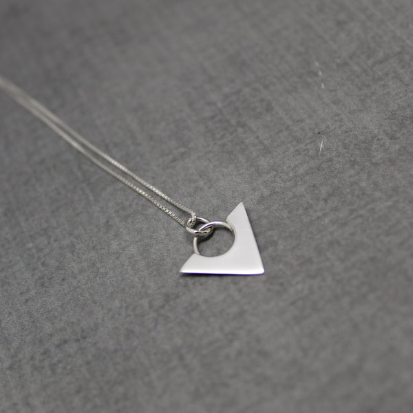 Sterling silver triangle point necklace