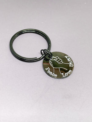 Peace Love Unity keychain