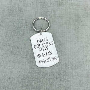 Dad's Greatest Hits Key chain