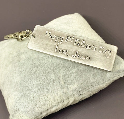 1st Father's Day key chain