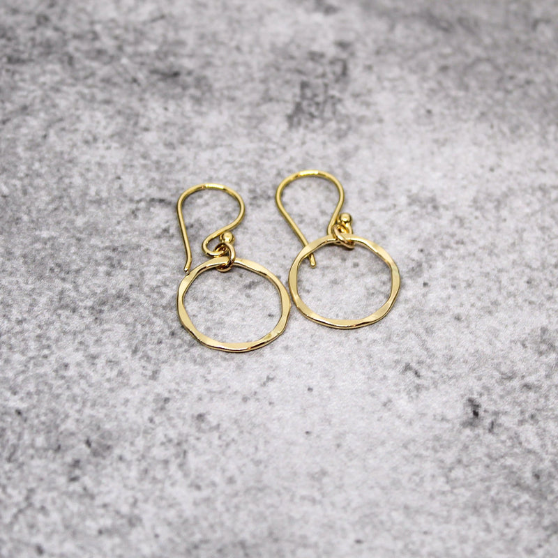 gold karma earrings