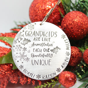 Grandchildren Christmas ornament, personalized Christmas ornament - Sweet Tea & Jewelry