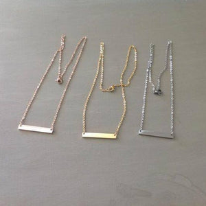 Personalized Bar Necklace in gold, silver and rose gold