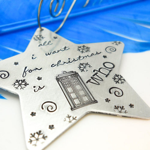Doctor Who inspired Star Christmas Ornament - Sweet Tea & Jewelry