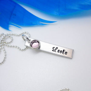 Personalized Bar Name Necklace, Aluminum
