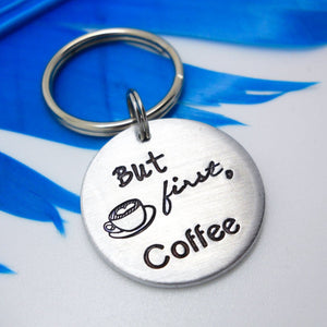 But First, Coffee Keychain