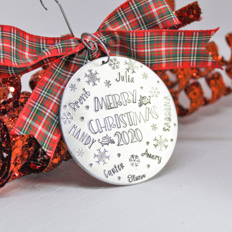 large family Christmas ornament