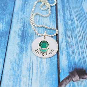 Sterling silver personalized Necklace with name, small - Sweet Tea & Jewelry