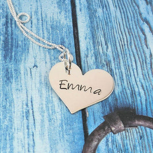 Personalized sterling silver classic heart necklace - Sweet Tea & Jewelry