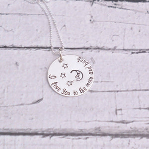 Sterling silver I love you to the moon and back necklace - Sweet Tea & Jewelry