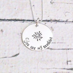 Sterling silver You are my sunshine necklace - DCDJewelry